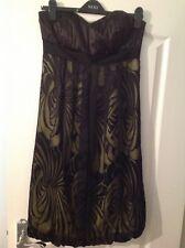 Monsoon Black Strapless Dress Size 10