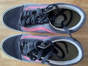 Vans UK Size 9 Old Skool Skate, Navy And Pink