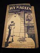 Partition Lily Marlene Suzy Solidor Music Sheet
