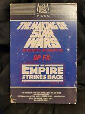 """Making of Star Wars & Sp Fx: Empire Strikes Back Vhs """"drawer"""" slipcase"""