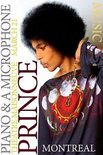 Prince Montreal Piano & Microphone Concert Poster 13 x 19 Giclee print