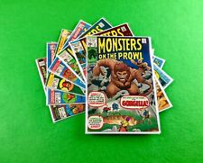 Monsters on the Prowl Lot: 7-Bk- #9, 10, 12, 19, 22, 23, 26!  Kirby! Ditko!