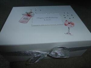 Keepsake Box Memory Box 21st Birthday 30th 40th 50th 60th 70th Engagement Gin**