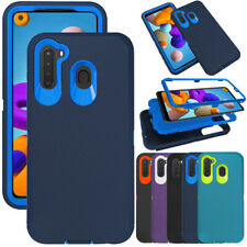 For Samsung Galaxy A21 Case Heavy Duty Hybrid Armor PC Phone Cover Fits Otterbox