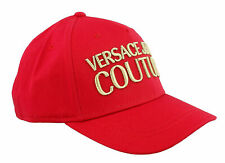 Versace Jeans Couture Red 100% Cotton Mid Visor Cap