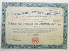 Obligation ancienne : SA Chargeur d extreme orient ( 477 )