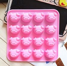 16 Cute Pig Oink Silicone Cake Mould Baking Chocolate Ice Cube Tray UK Kid