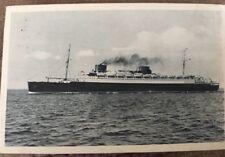 Vintage Postcard Cruise Line NORDDEUTSCHER LLOYD 'BREMEN' 1930