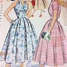 "Vintage 1950s Simplicity Pattern 1163 Halter Dress & Bolero Jacket Cut 36"" Bust"