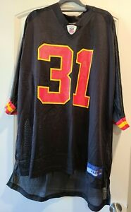 NWT - Reebok Black KC Chiefs #31 Holmes Jersey On Field Men Size 4XL XXXXL RARE!