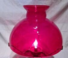 """Red Cranberry Glass Shade  Rayo Oil Lamp Shade 10"""""""