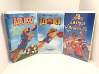 Walt Disney VHS Lot - Air Bud, Air Bud Golden Receiver, All Dogs go to Heaven 2