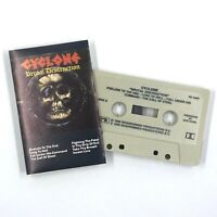 CYCLONE Brutal Destruction Cassette Tape 1986 Thrash Speed Metal Rare