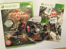 XBOX 360 GAME DEAD ISLAND I 1 GAME OF THE YEAR GOTY EDITION COMPLETE PAL GWO