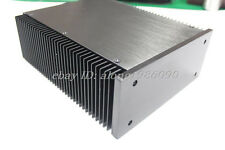 Black 2109 Full Aluminum PSU BOX Power amplifier Enclosure cover no slotted  -sn