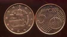 SAINT MARIN     5 cent   2006  SPL  neuve  ( sortie du rouleau )  ( bis )
