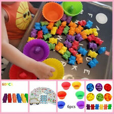 Counting Bears With Stacking Cups Montessori Color Sorting Matching Game Toys