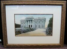 "Unsigned ""Elegant Mansion"" Vintage Lithograph Print Framed 21x28"" B4417"