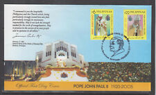 Philippine Stamps 2005 Pope John Paul II Complete set on FDC, Paranque City Canc
