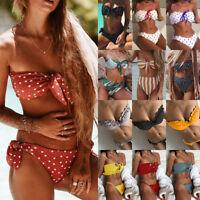 Women's Bikini Set Padded Bra Bandeau Strapless Swimming Beachwear Swimwear Sexy
