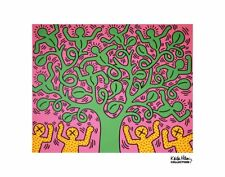 POP ART PRINT - KH01 by Keith Haring Contemporary Figure Tree Poster 11x14