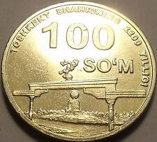 Unc Uzbekistan 2009 100 Som~Tashkent, 2200th Anniversary of Settlement~Free Sh*
