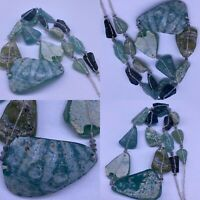 Wonderful  Roman Glass unique patina Glass Beads