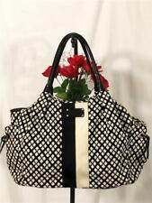 Kate Spade Classic Noel Stevie black/white Canvas Patent Leather Trim Diaper Bag