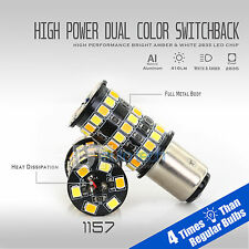 2X High Power White Amber 1157 Dual Color Switchback LED Turn Signal Light Bulbs