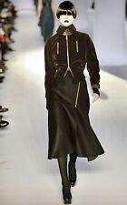 0ce849eda16 Yves Saint Laurent YSL Runway Brown Velvet Jacket