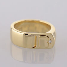 De Beers Diamond Buckle Ring 18ct Yellow Gold Size N