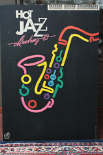 HOT JAZZ MEETING'89 Grand Jahnke tournée Affiche sur bois