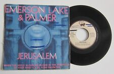 """EMERSON LAKE & PALMER - JERUSALEM - 7"""" FRANCE FRENCH PS PICTURE SLEEVE"""