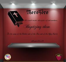 Wall Stickers Bible Quote Verse Matt 28:19: Therefore go and make zz010