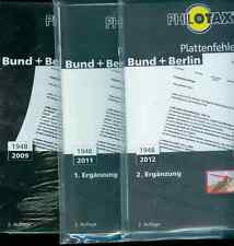 Philotax placas error-catálogo federal + Berlín 2. tirada 2009 con 2 adiciones nuevo