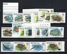 BERMUDA 1978-79 FISH etc definitives (incl 90c overprint) VF MNH
