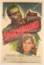 STORMBOUND ~ 1951 one sheet poster~La STRADA FINISCE sul FIUME~Constance Dowling