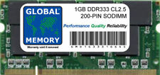 1GB DDR 333MHz PC2700 200-pin Sodimm Memoria Ram para Portátiles/Notebooks