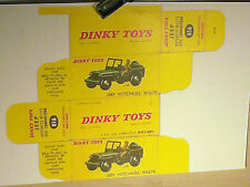 REFABRICATION BOITE JEEP  MILITAIRE  / DINKY TOYS 1959
