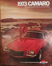 Orginal 1973 Chevrolet Camaro SS Catalog Brochure 73 Chevy