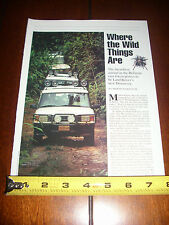 LAND ROVER DISCOVERY BELIZE JUNGLE EXPEDITION - ORIGINAL 1994 ARTICLE