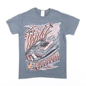 GILDAN Racing Grey Sports Short Sleeve T-Shirt Mens S