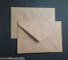 60 LARGE Envelopes Kraft Craft Recycled Brown C5 90gsm Fits 1/2 A4