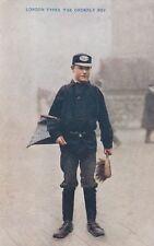 London Social History Postcard.  London Types. The Orderly Boy. Pristine! c 1907