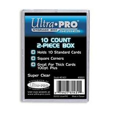 UltraPro Ultra Pro Card Storage Box 10ct   2 Piece Acrylic Trading Card CASE