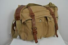 ORIGINAL I AM LEGEND BELSTAFF 554 COLONIAL MESSENGER BAG BROWN LEATHER CANVAS
