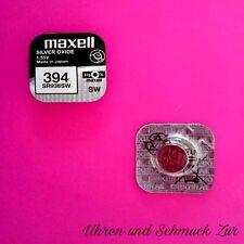 1x Maxell 394 Uhren Batterie Knopfzelle SR936SW AG9 Silberoxid Blisterware Neu