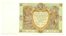 Poland Republic Bank Polski 50 Zlotych 1929 XF Pick #71