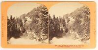 Suisse Caduta Del Giessbach Foto Lamy Stereo PL55L3n Vintage Albumina c1870