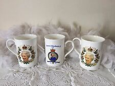 collectible mugs The diamond jubilee of H M Queen Elizabeth 1952-2012, 3 mug set